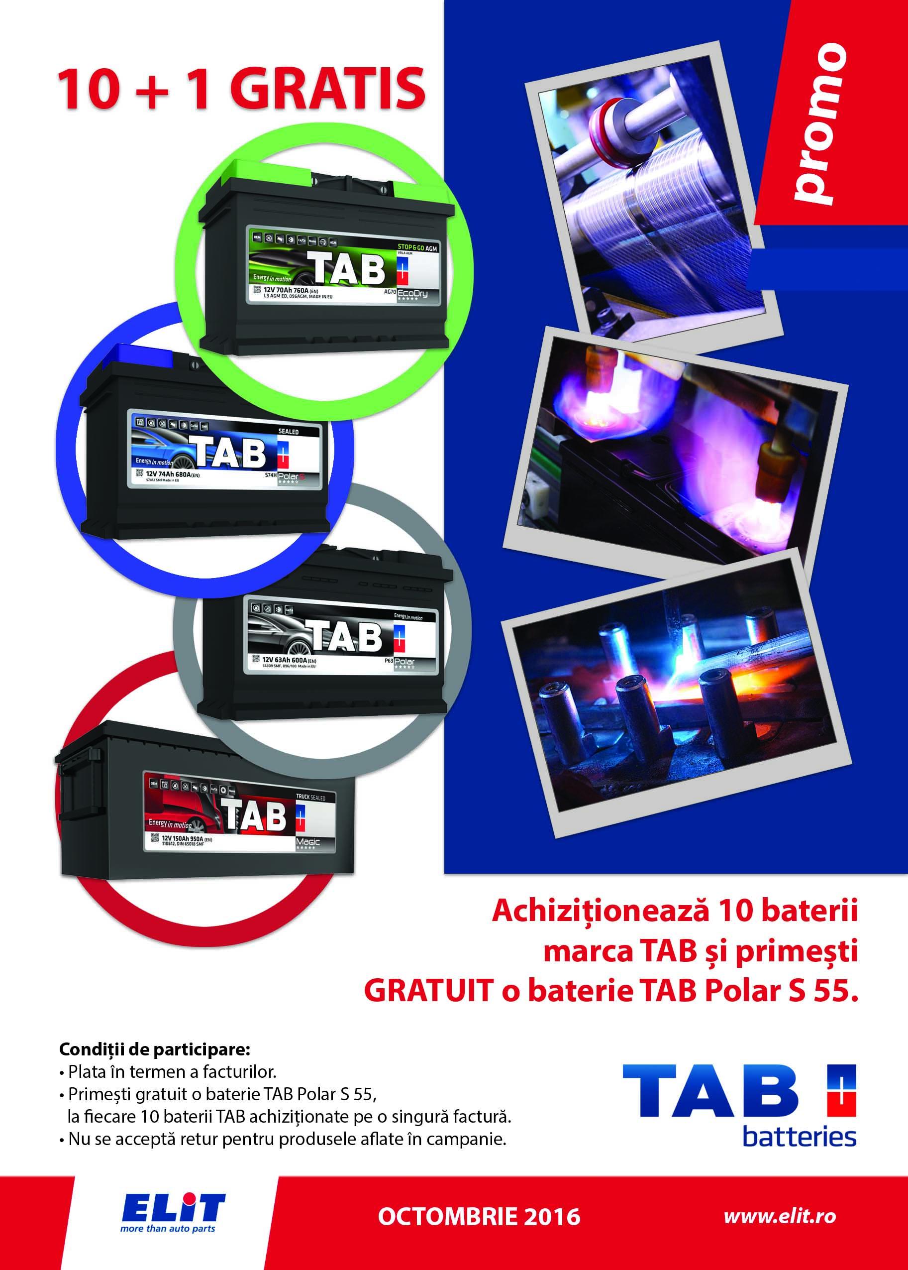 Promo baterii TAB