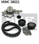 SKF VKMC38021 Водяной насос + комплект ручейковых ремней
