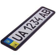 ELIT UNIPHC75055 Рамка номера нерж. РНС-75055 с сеткой черная