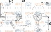 HELLA 8EW009157251 Вентилятор кабiни кондиц.
