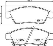 TEXTAR T2381701 Тормозные колодки, к-кт.