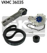 SKF  Водяной насос + комплект ручейковых ремней
