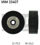 SKF VKM33407 Паразитный / ведущий ролик, поликлиновой ремень