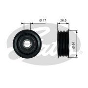 GATES GT38099 Паразитный / ведущий ролик, поликлиновой ремен