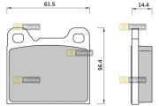 STARLINE SBDS420 Колодки тормозные дисковые, к-кт.