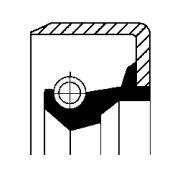CORTECO COS12011487 Уплотняющее кольцо, ступенчатая коробка передач; Уплотняющее кольцо, дифференциал