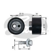 GATES GT41140 Натяжной ролик, поликлиновой  ремень
