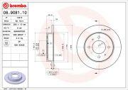 BREMBO 08908110 Тормозной диск