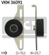 SKF VKM36091 Натяжной ролик, поликлиновой  ремень