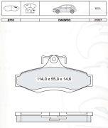 INTELLI INTD135E Колодки тормозные дисковые, к-кт.