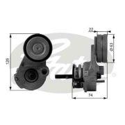 GATES GT38433 Натяжной ролик, поликлиновой  ремень