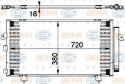 HELLA 8FC351302111 Радiатор кондицiонера