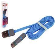ELIT UNIVLCP002BL Кабель PULSO USB - Micro USB/Apple 1m blue (плоский)