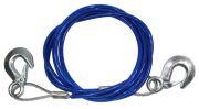 CARFACE DOCF12222 Буксировочный тросс 2т (с карабинами) металлический