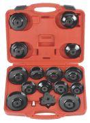 FORCE FOR61916 Набор фильтросъемников чашечных+съемниккраб 65-120 мм, 16 пр.