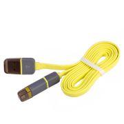 ELIT UNIVLCP002Y Кабель PULSO USB - Micro USB/Apple 1m yellow (плоский)