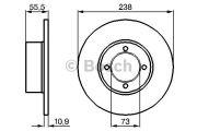 Bosch  Тормозной диск