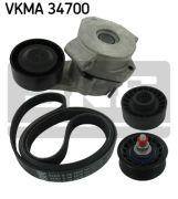 SKF VKMC34700 Водяной насос + комплект ручейковых ремней