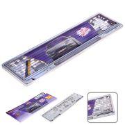 ELIT UNIPA012302S Рамка номера пластик/GUARD/Silver/отражатель White 123-02-S