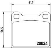 BREMBO BREP59001 Тормозные колодки  дисковые, к-кт.