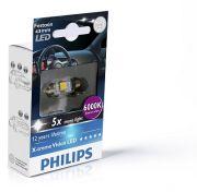 PHILIPS PHI129466000KX1 Автомобильная лампа: 12 [В] C5W 10,5x43 X-tremeVision LED 1W цоколь SV8,5-8 6000K