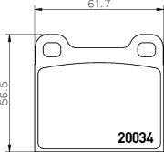 TEXTAR T2003402 Тормозные колодки, к-кт.