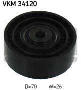SKF VKM34120 Паразитный / ведущий ролик, поликлиновой ремень
