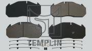 TEMPLIN 031208700021 Дисковые тормозные колодки, комплект (с РМК), MAN, RVI, 29030/29113 WVA