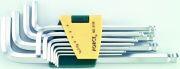 FORCE FOR5116LB Набір ключів подовжених Г-подібних НЕХ 1.5,2,2.5,3,4,5,6,7,8,10,12мм з шаром