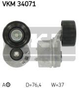 SKF VKM34071 Натяжной ролик, поликлиновой  ремень