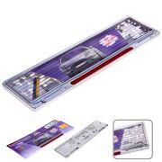 ELIT UNIPA012302 Рамка номера пластик/GUARD/Silver/отражатель Red 123-02