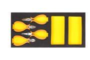 STARLINE NRF1ET1361 Набор мини пасатижей, кусачки, утконосы,тонкогубцы в ложементе 4 ед.