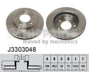 Nipparts  Тормозной диск