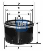 UFI 2312700 Масляный фильтр LADA (высокий)