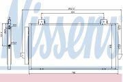 NISS NIS94741 Конденсер TY RAV 4(00-)1.8 i 16V(+)[OE 88460-42070]