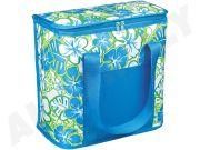 CARFACE DOCFATPCCB1001F Рефрижераторный мешок, содержание 20 L, декор F -Синий с сине-зелеными цветами, современный вид.
