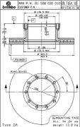 BREMBO 09716410 Тормозной диск