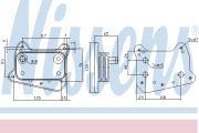 NISSENS NIS90581 Масл.рад. MB C W 202(93-)C 200 CDI(+)[OE 611 188 01 01]
