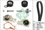 INA  Водяной насос + комплект зубчатого ремня