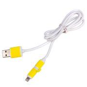 ELIT UNIVLCP001Y Кабель PULSO USB - Micro USB/Apple  1m yellow (круглый)