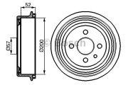 Bosch  Тормозной барабан