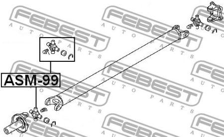 FEBEST FEASM99 КРЕСТОВИНА КАРДАННОГО ВАЛА 30X71,5 MITSUBISHI PAJERO II V14W-V55W 1991-2004 заказать по низкой цене