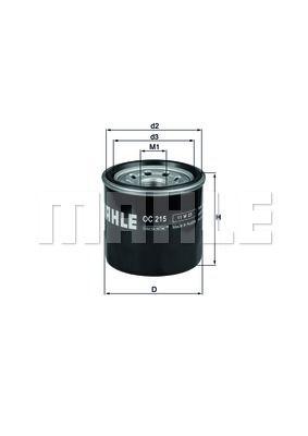 OC215 KNECHT Масляный фильтр для CHERY QQ