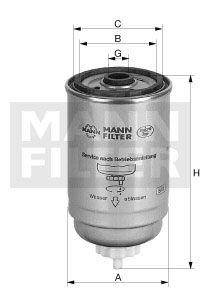 MANN WK7162X Топливный фильтр заказать по низкой цене