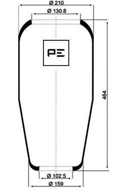 PT08406070 PETERS Пневморессора 882N1, MAN для MAN M
