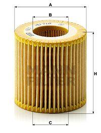 MFHU710X MANN Масляный фильтр для SKODA RAPID