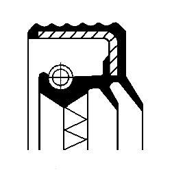 CORTECO COS12016928 Уплотняющее кольцо, дифференциал; Уплотняющее кольцо, раздаточная коробка; Купить недорого