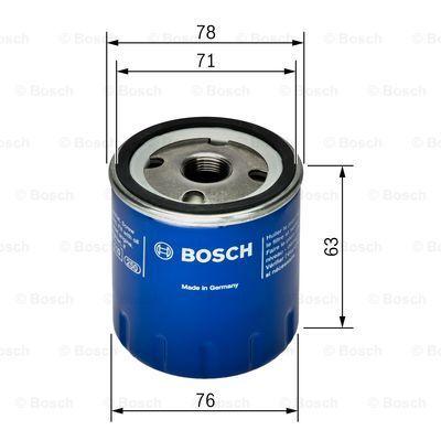 F026407022 BOSCH Масляный фильтр на DACIA