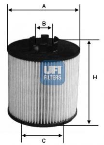 2506400 UFI Масляный фильтр для CHEVROLET AVEO