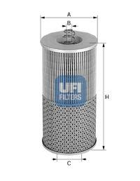 2542300 UFI Масляный фильтр для MAN M